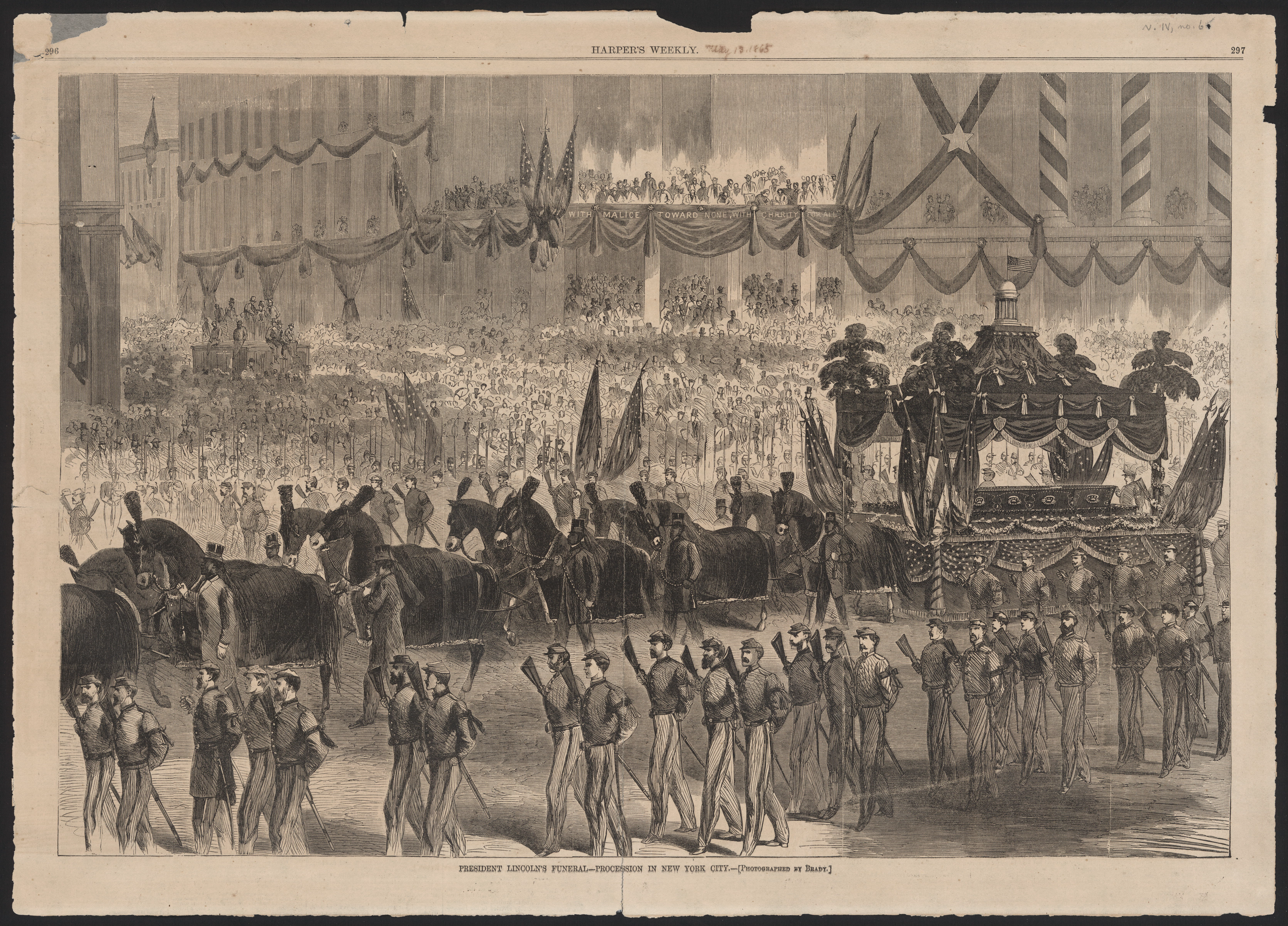 President Lincoln's funeral. [Harper's Weekly illustration.]