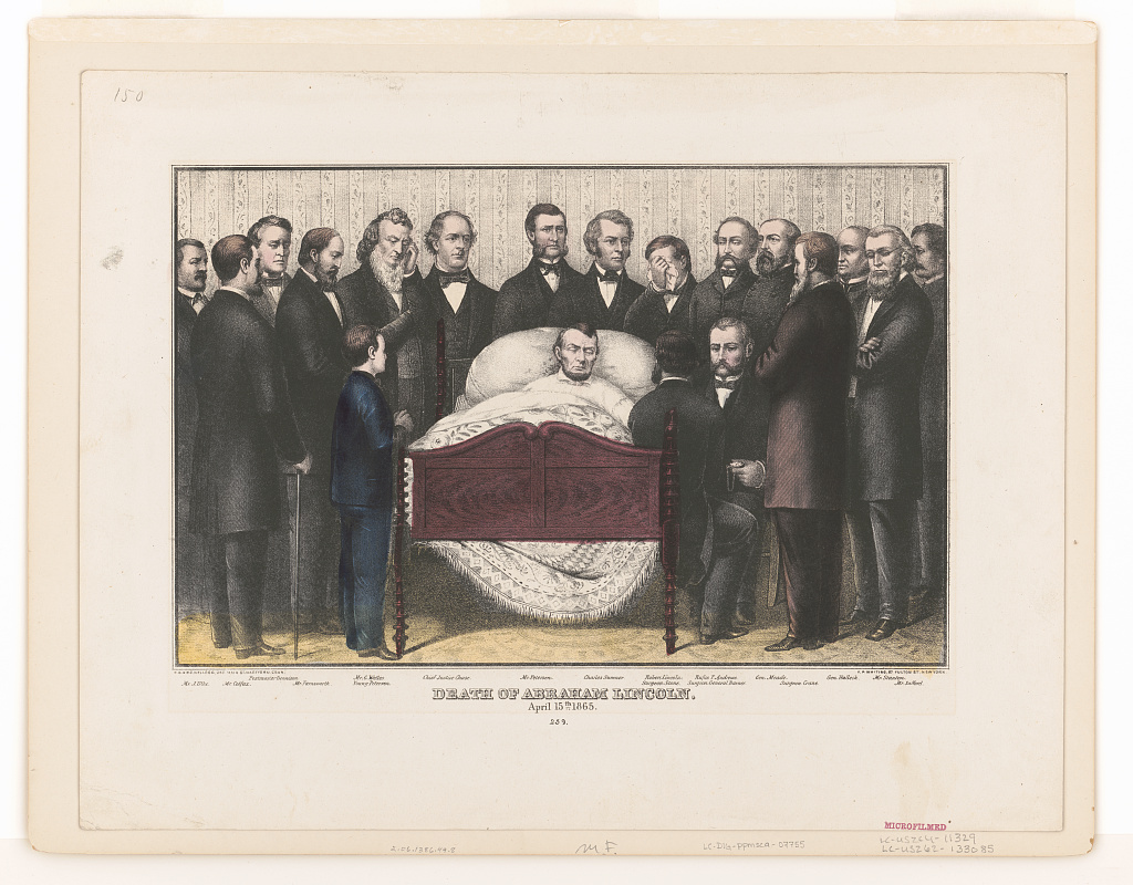 Death of Abraham Lincoln, April 15th 1865