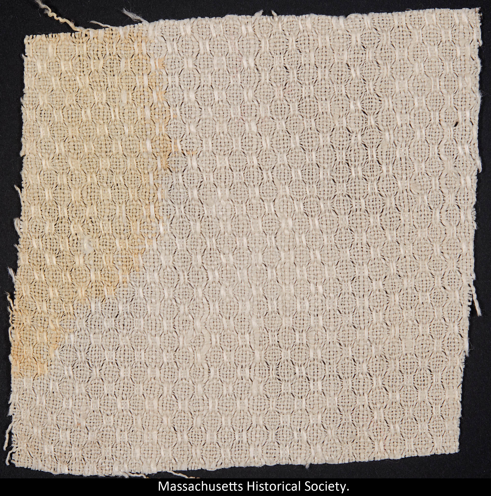 Fragment of towel stained with blood of Abraham Lincoln