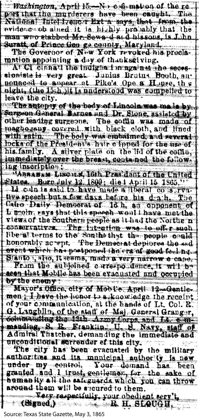 Newspaper Article - Secretary Seward and Abraham Lincoln