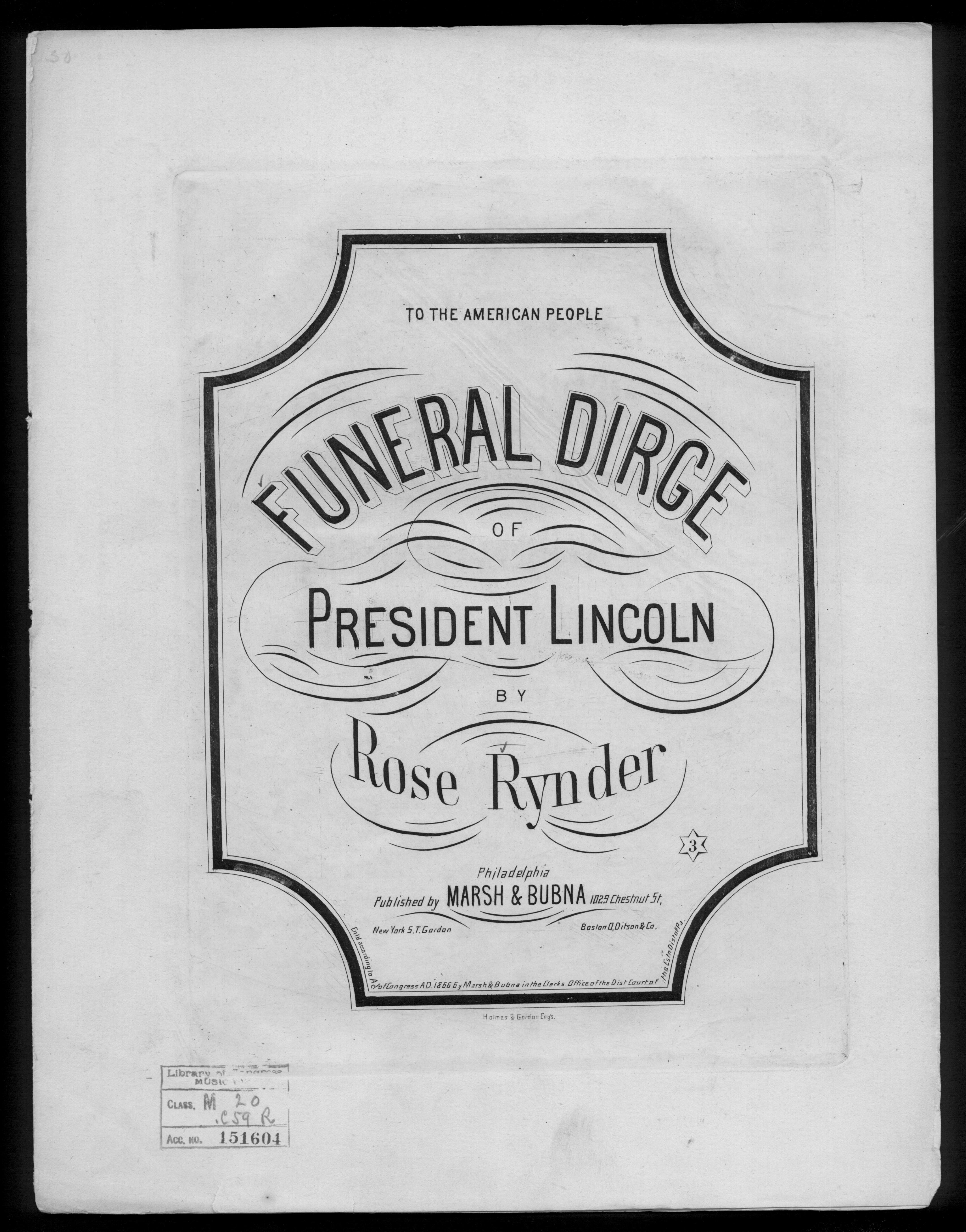 Funeral Dirge of President Lincoln