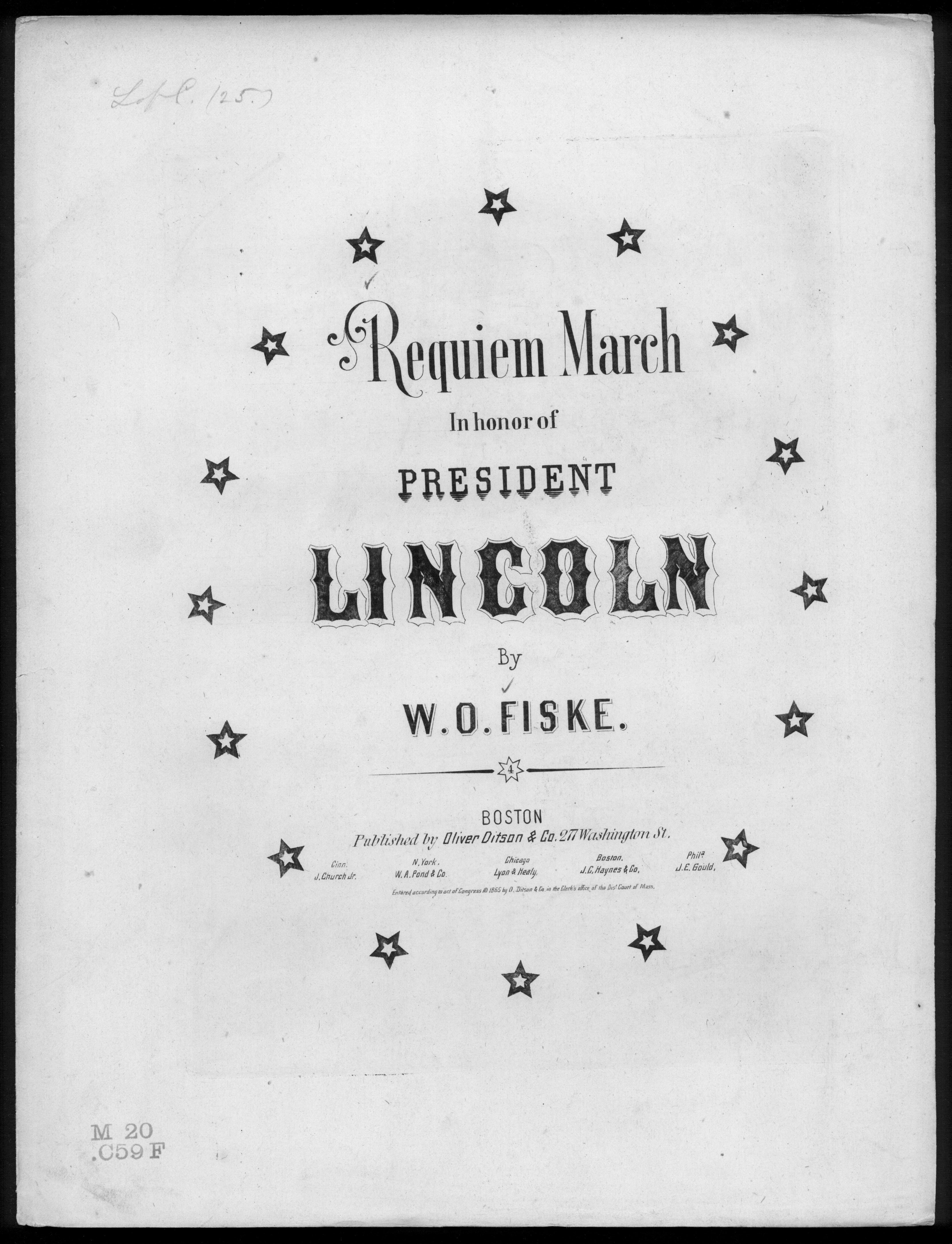Requiem march in honor of President Lincoln