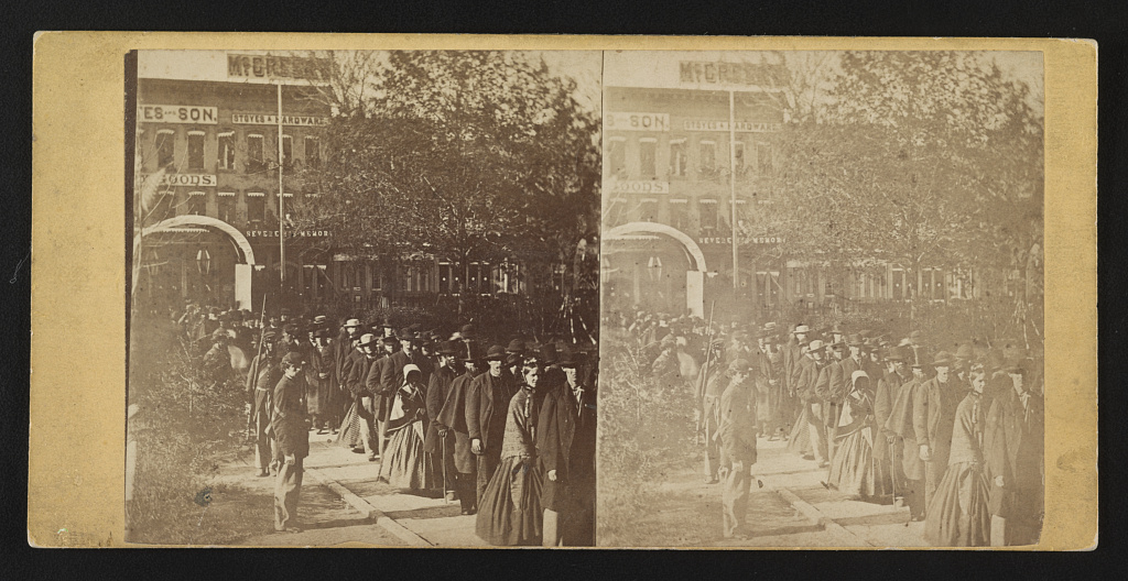 Lincoln lies in state, Springfield, May 1865