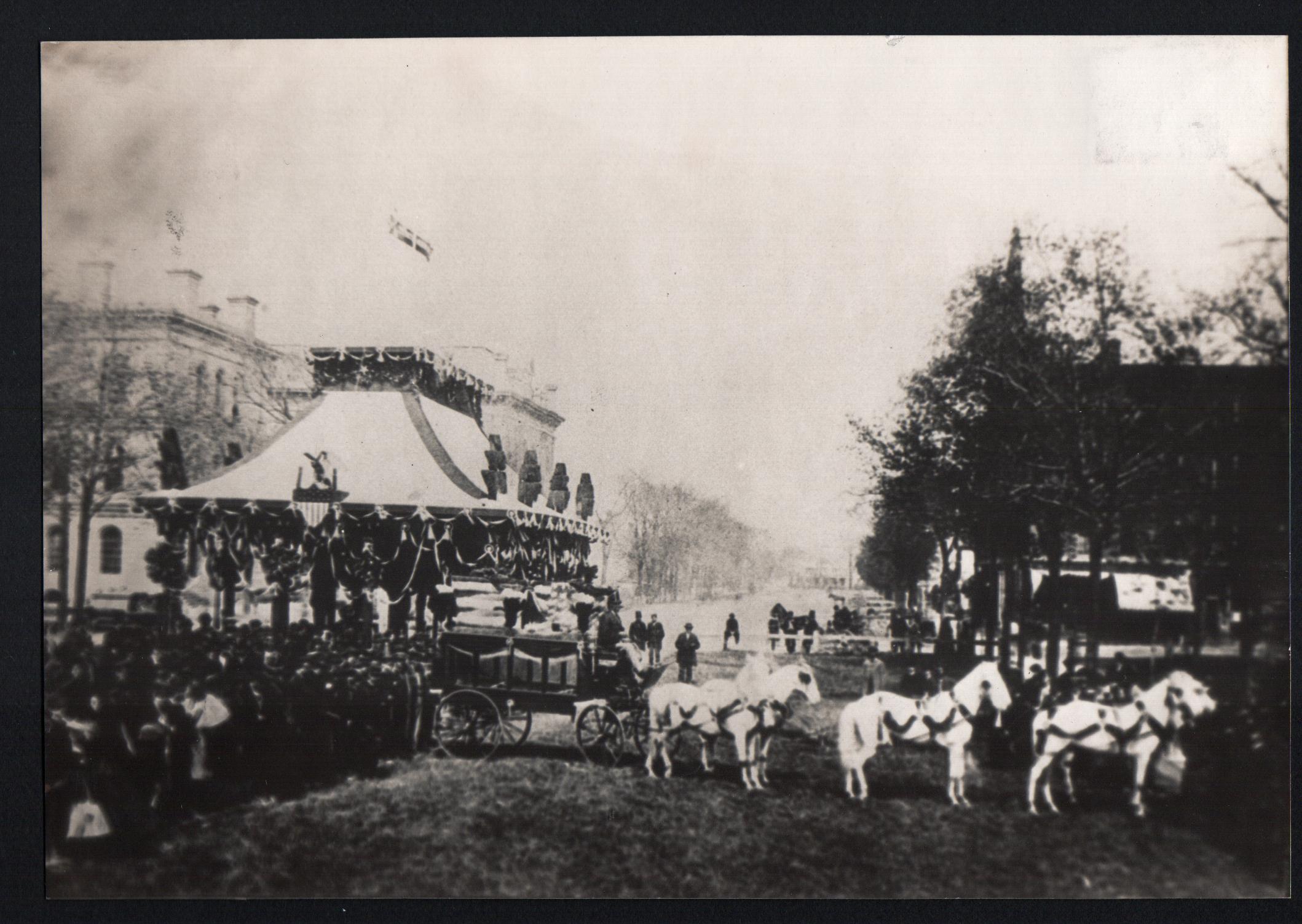 Lincoln Funeral Train in Public Square, April 28, 1865