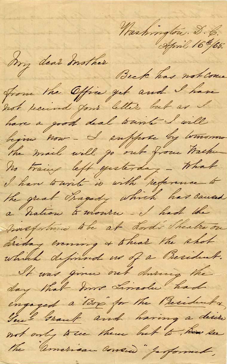 Helen Augusta Bratt DuBarry to Ann A. Lamoureaux Bratt