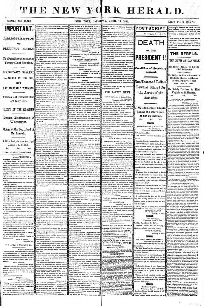 New York Herald 1865