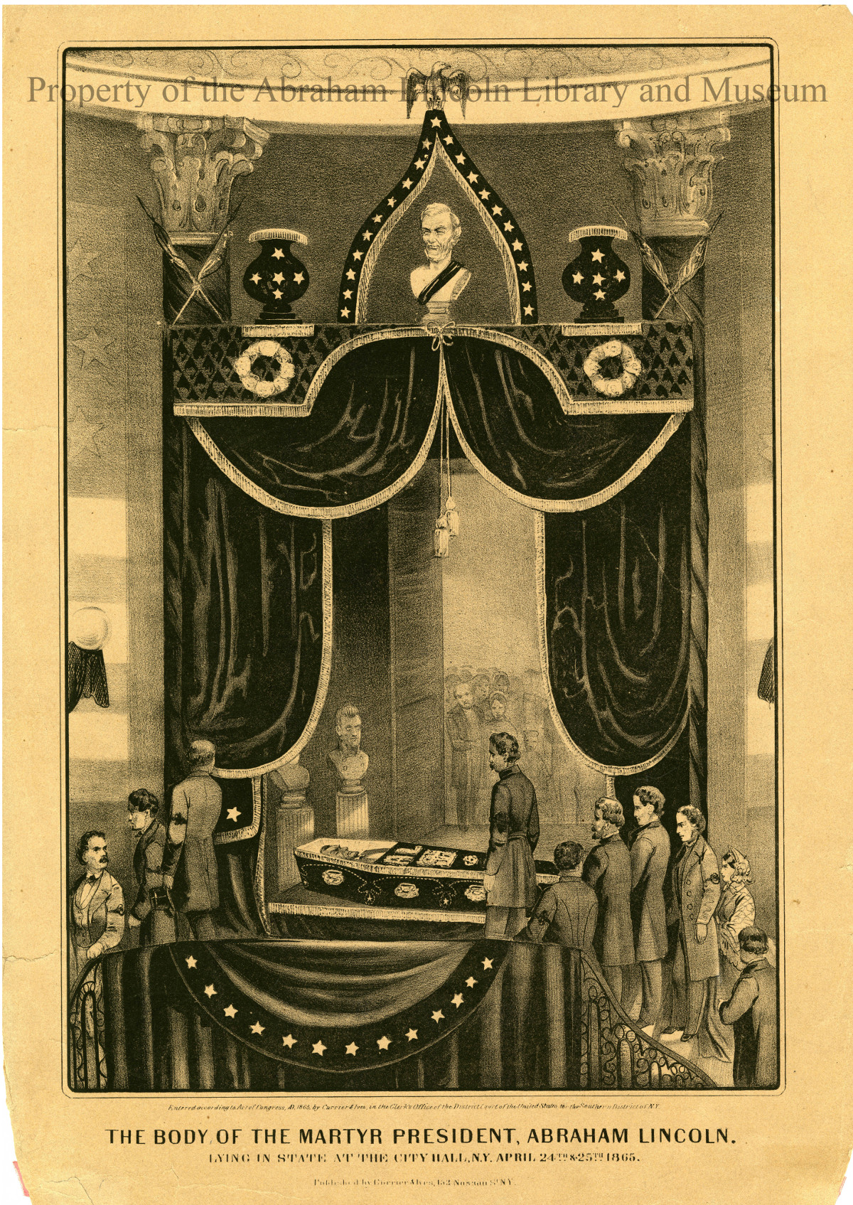 The Body of the Martyr President, Abraham Lincoln