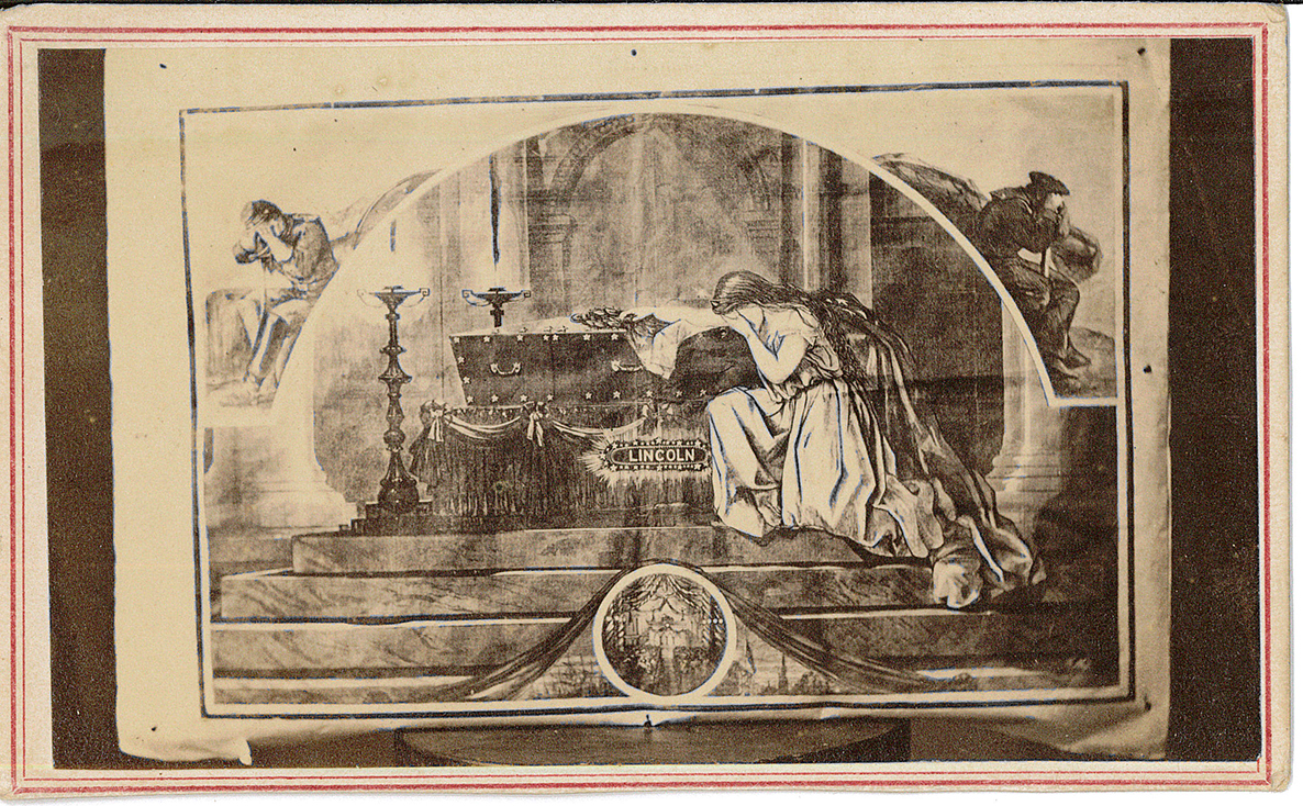 Card – Columbia Mourning Over Tomb of Lincoln