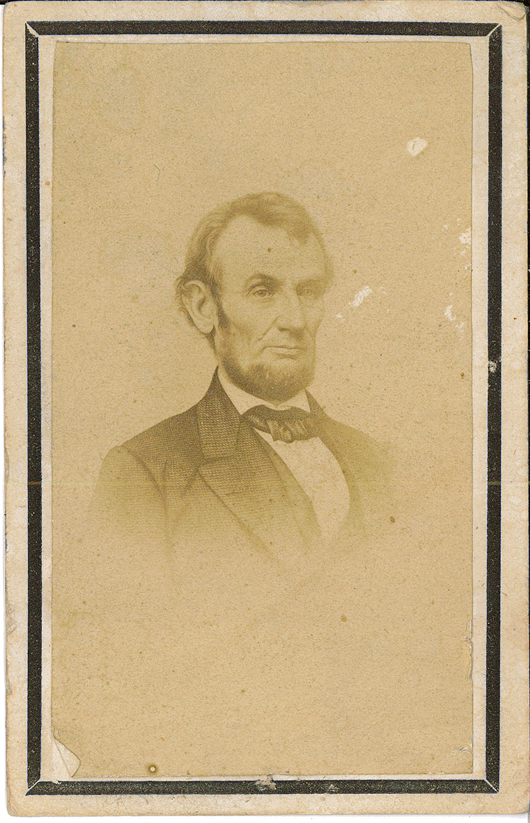 Card – Mourning Card Picture of Lincoln