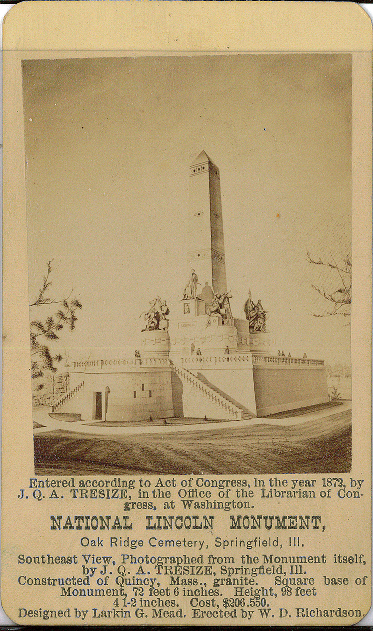Card – Picture of the Lincoln Tomb