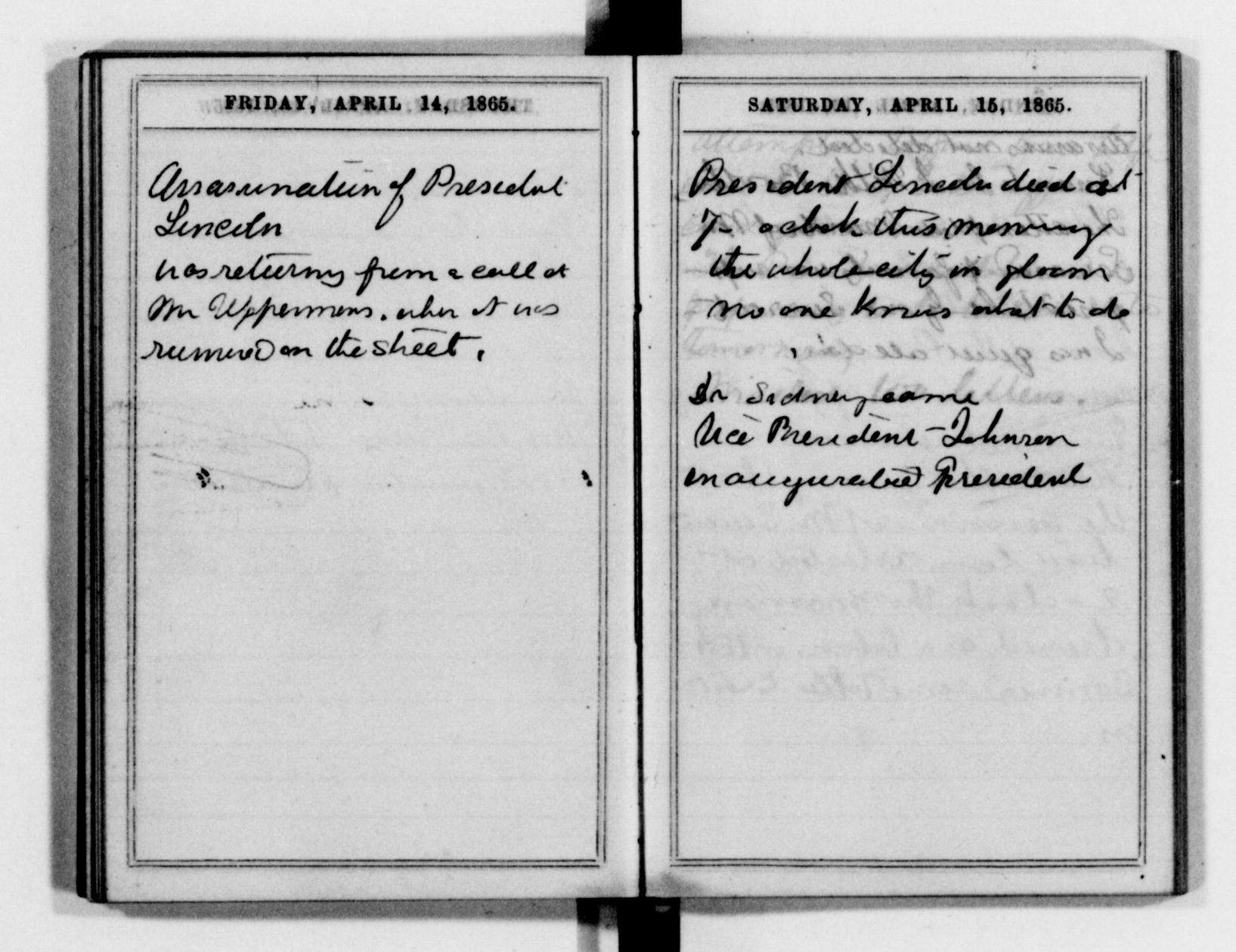 Clara Barton's Diary