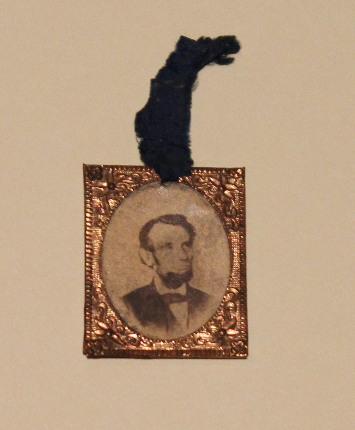Copper Framed Photograph Badge with Ribbon