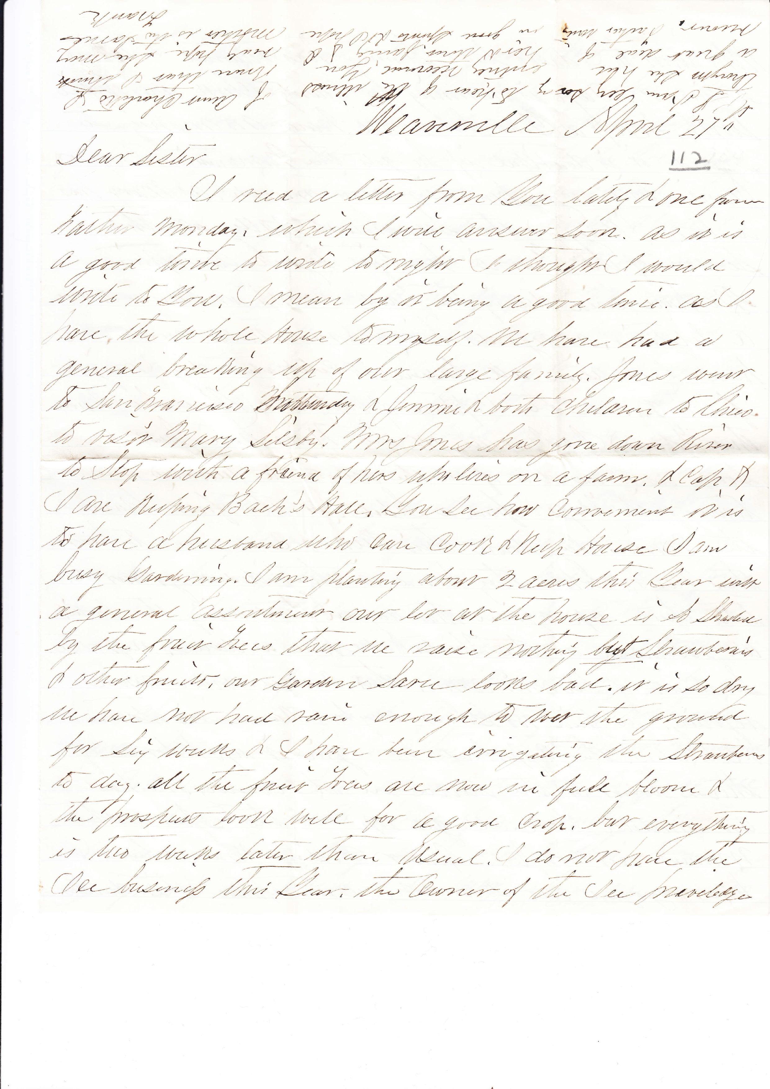 Franklin Augustus Buck to Mary Sewall Bradley
