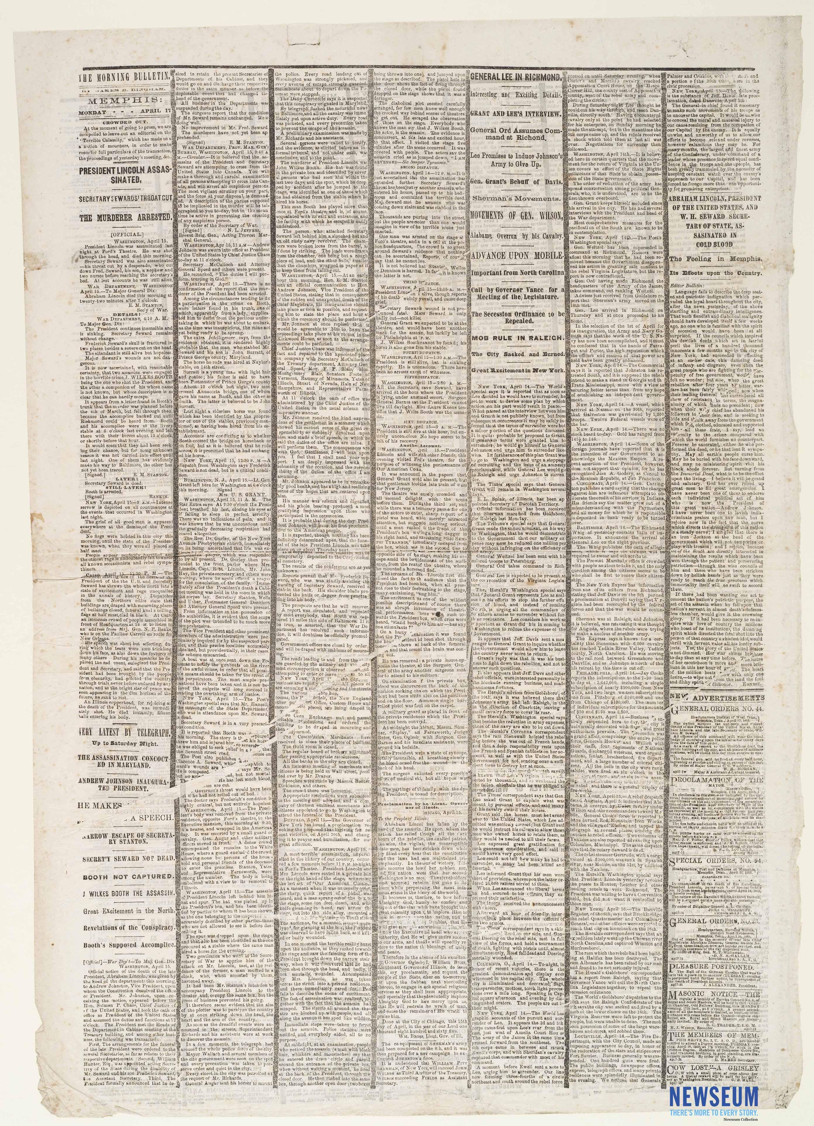 The Morning Bulletin, April 17, [1865]