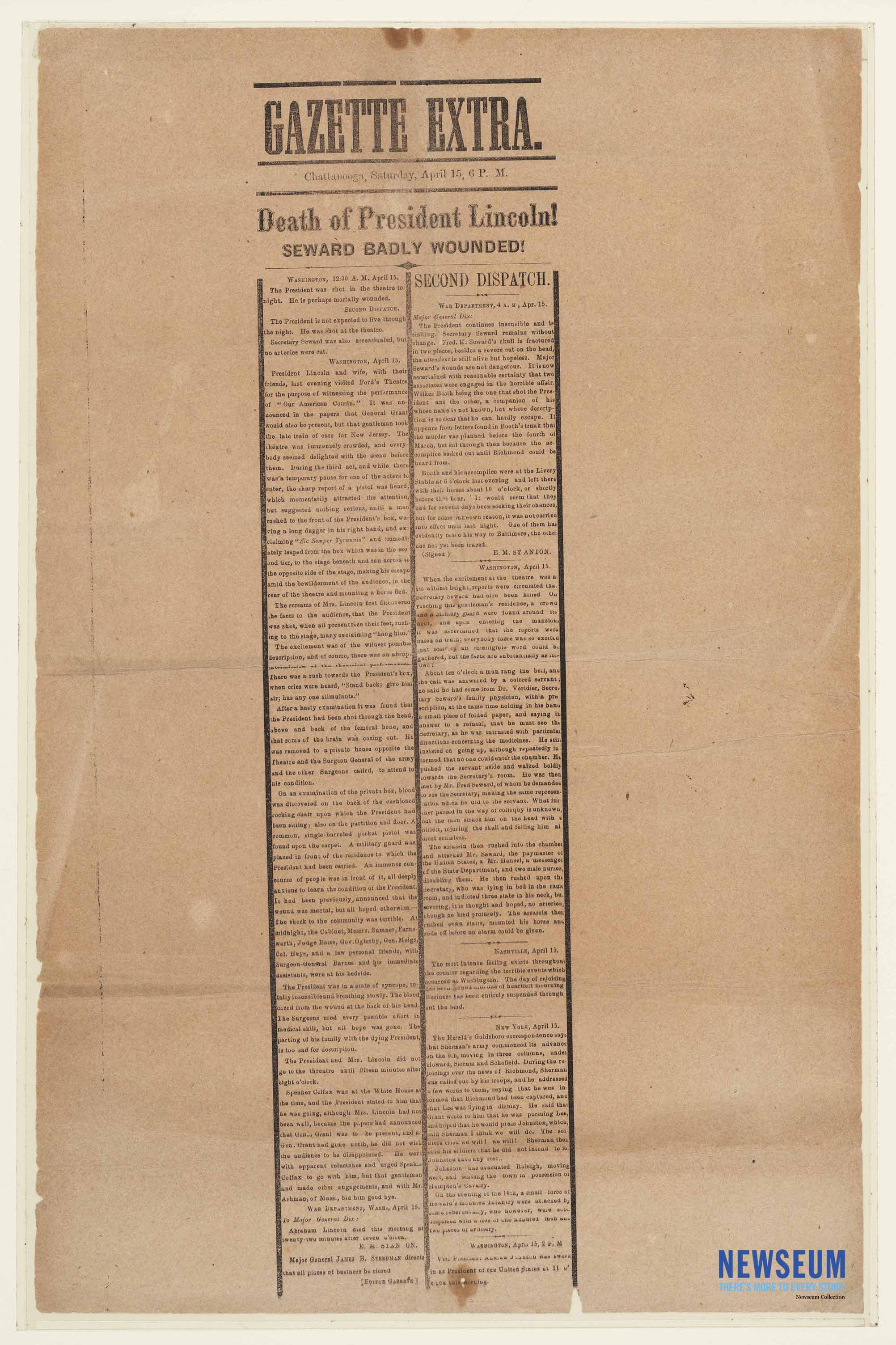 [Chattanooga Daily] Gazette Extra, April 15, [1865]