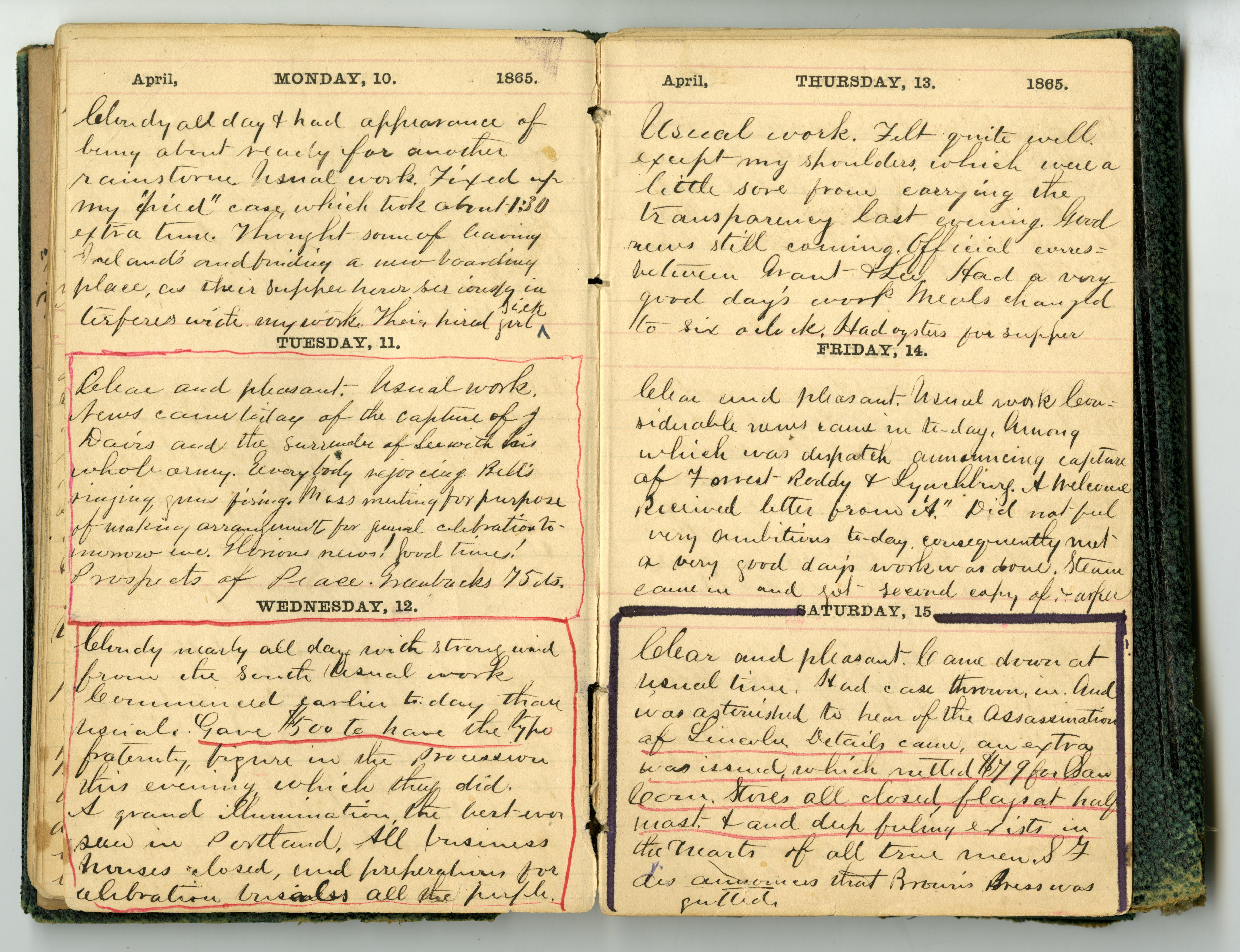 George Himes Diary