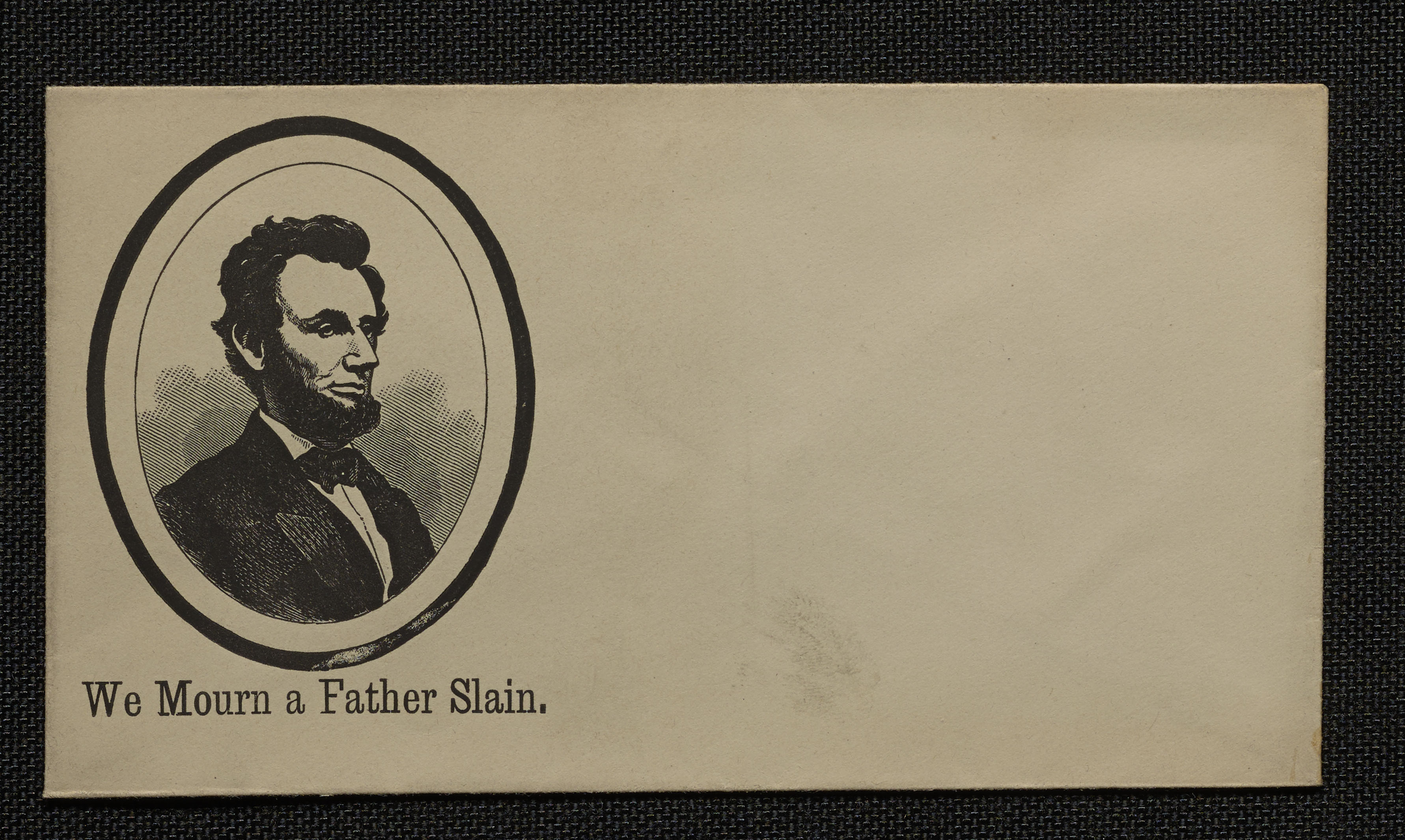 Mourning Envelope with Portrait of Lincoln