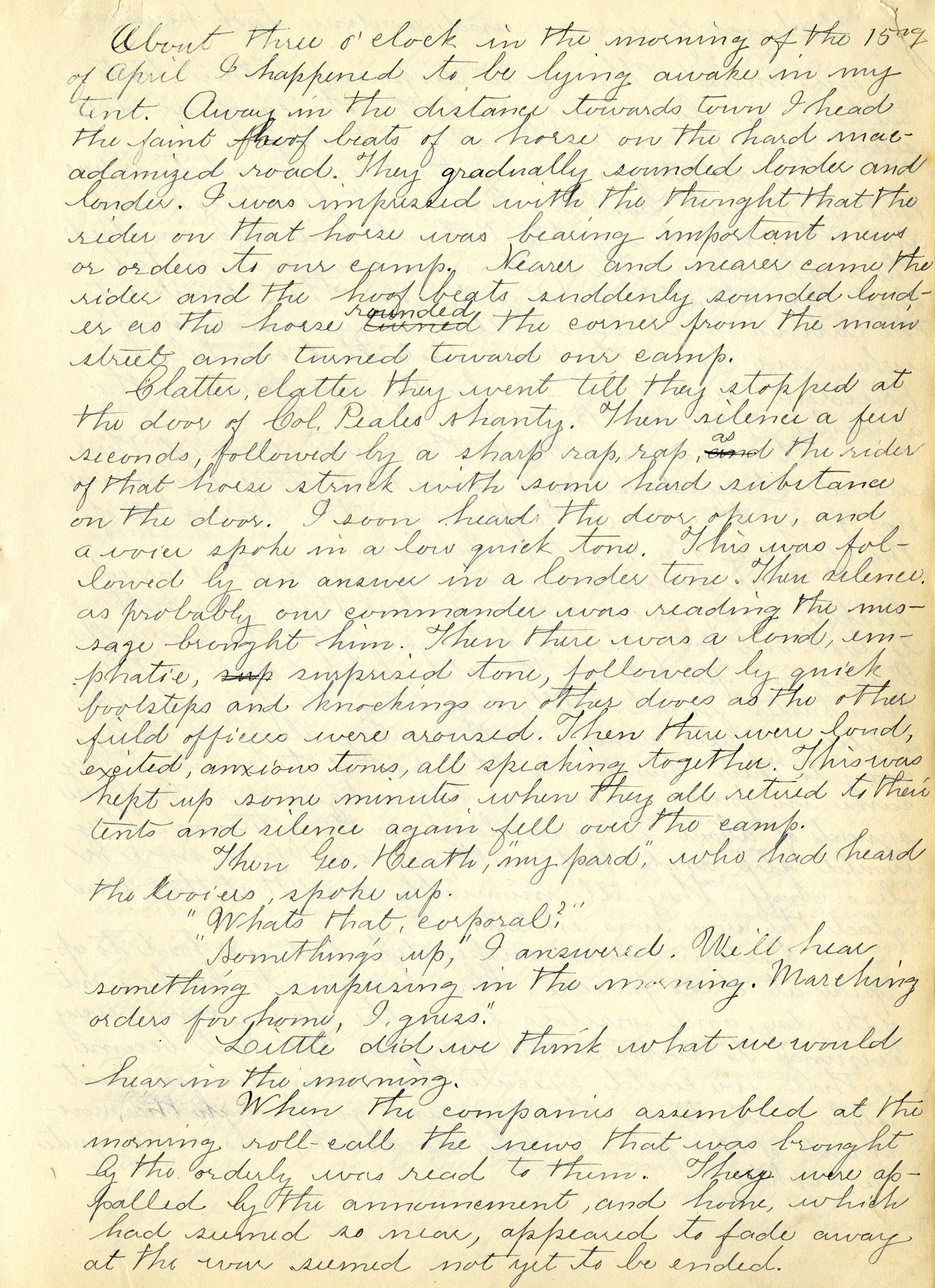 Record Book of James H. Sawyer, 1862-1865