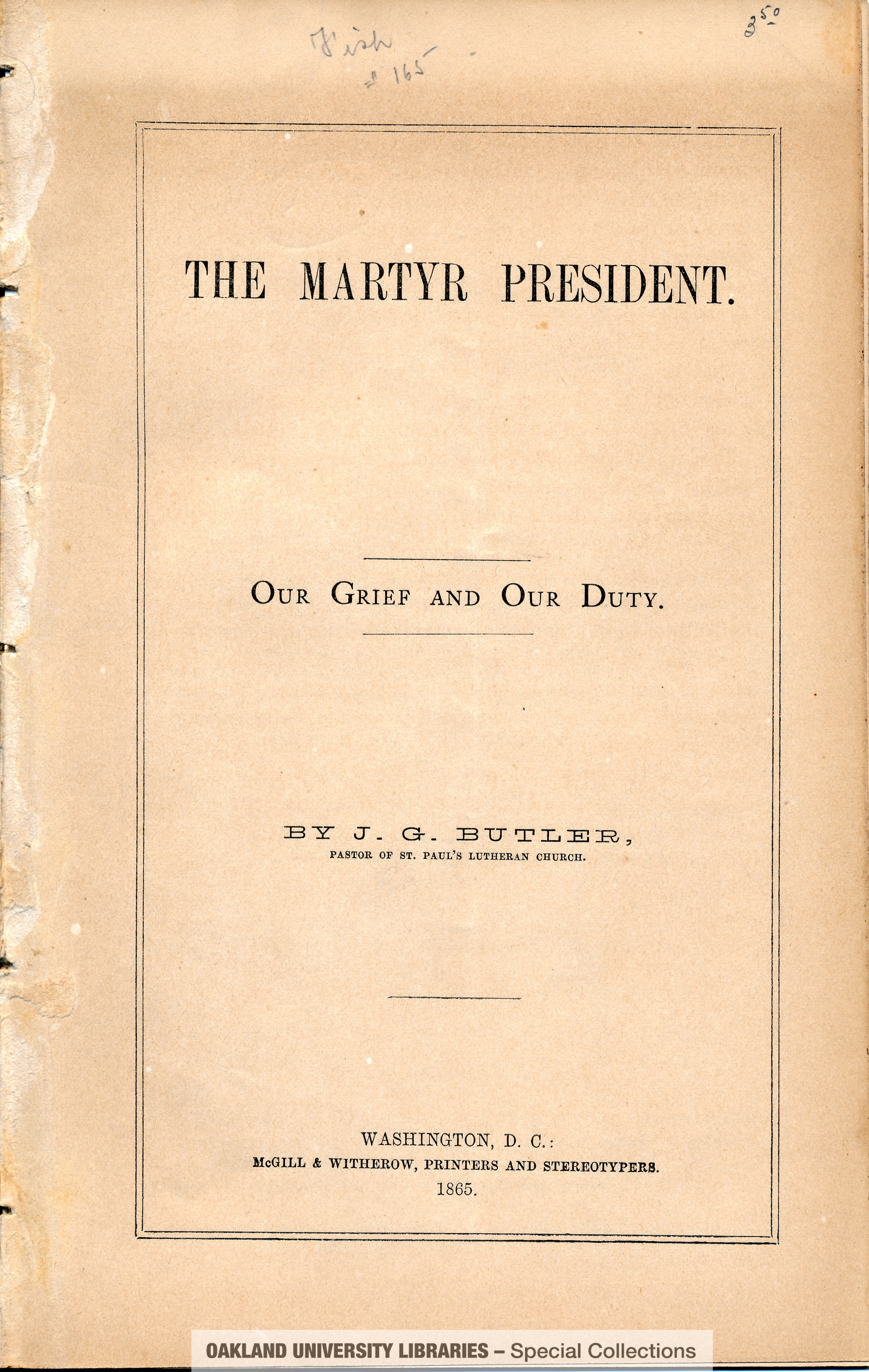 The Martyr President: Our Grief and Our Duty