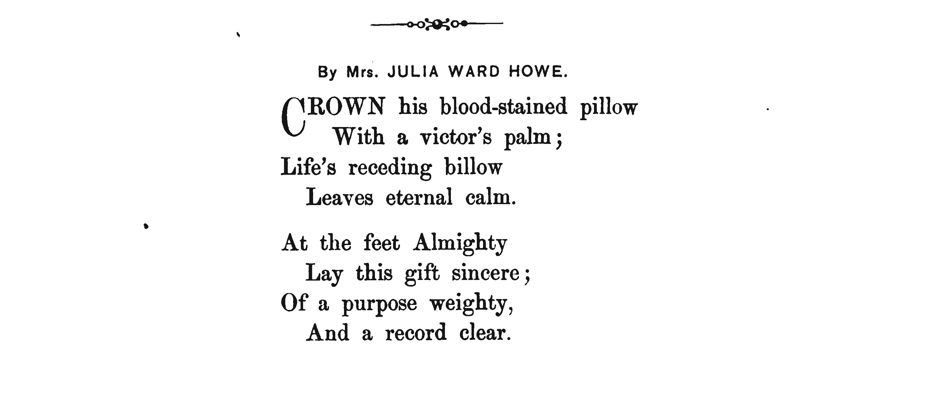 Poetical Tribute to President Lincoln - Julia Ward Howe