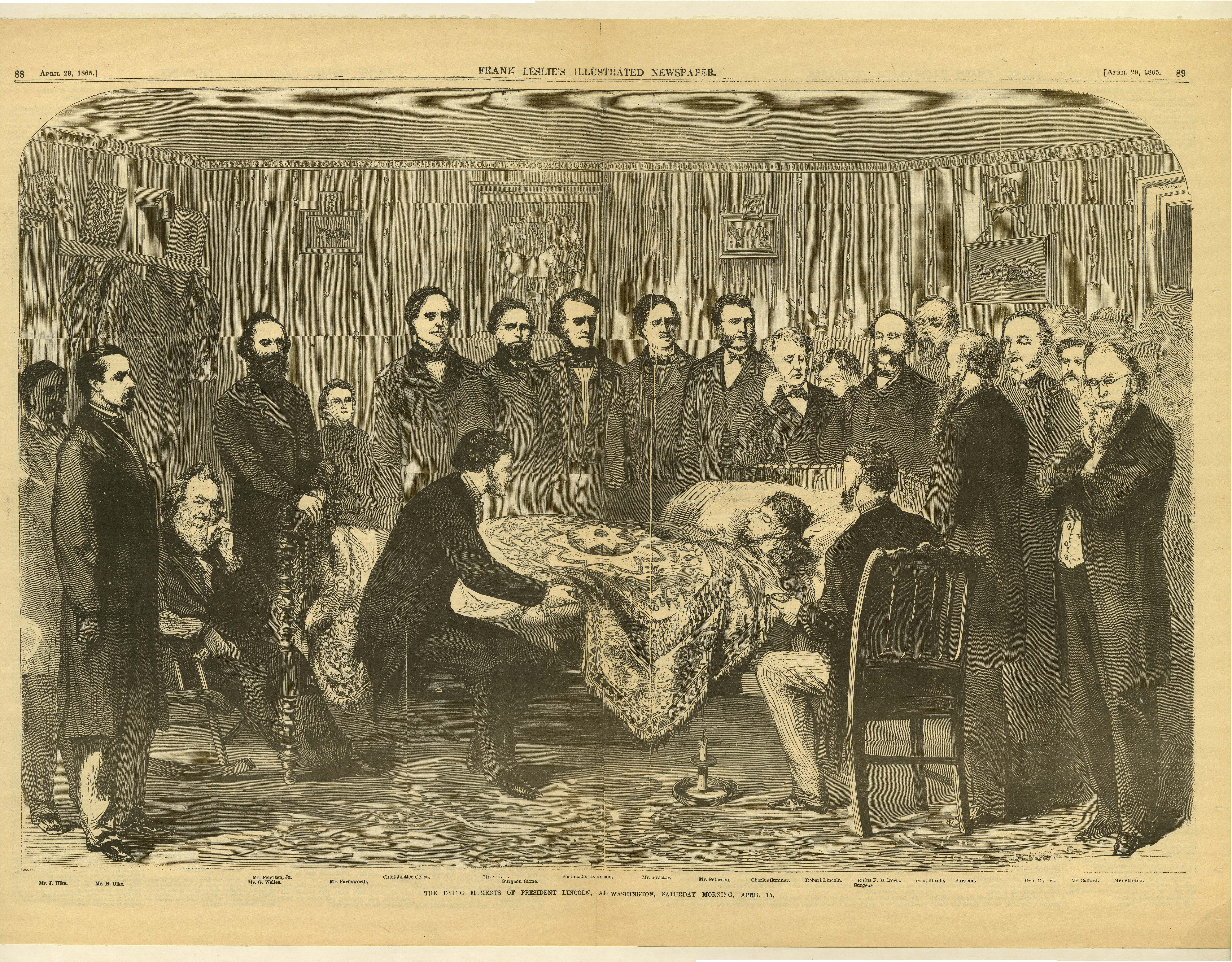 The Dying Moments of President Lincoln, at Washington, Saturday Morning, April 15