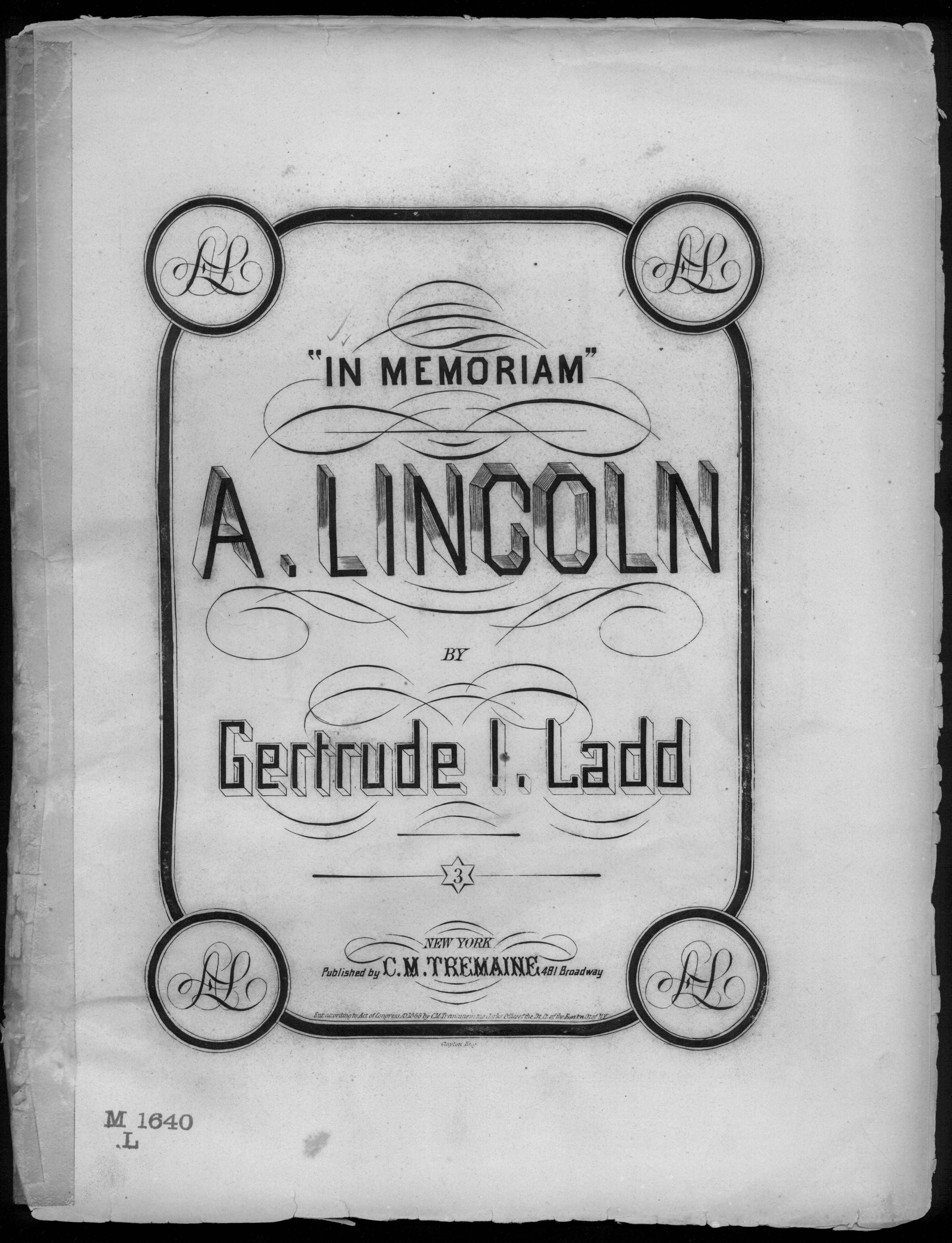 In memoriam, A. Lincoln