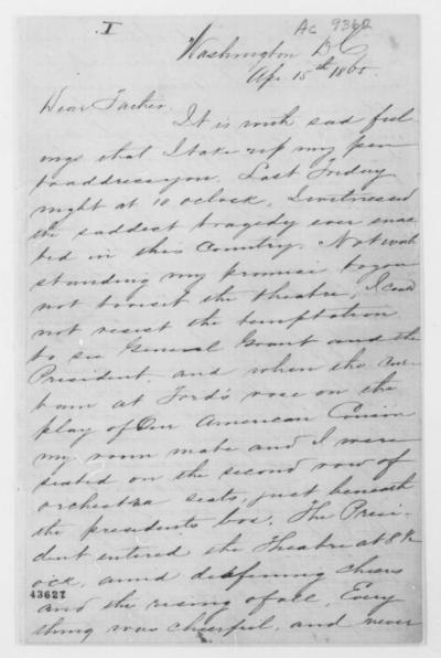 James S. Knox to his Father