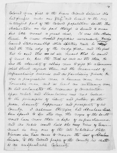 Abraham Lincoln, a Speech