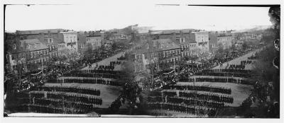 Washington, D.C. President Lincoln's funeral procession on Pennsylvania Avenue