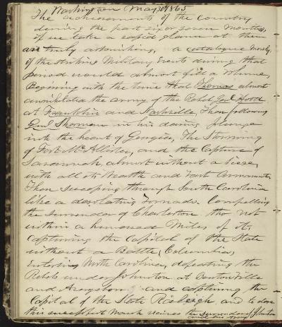 Horatio Nelson Taft Diary, May 30, 1865