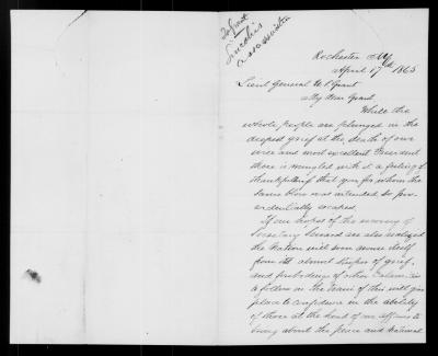 I.F. Quinby to Ulysses S. Grant