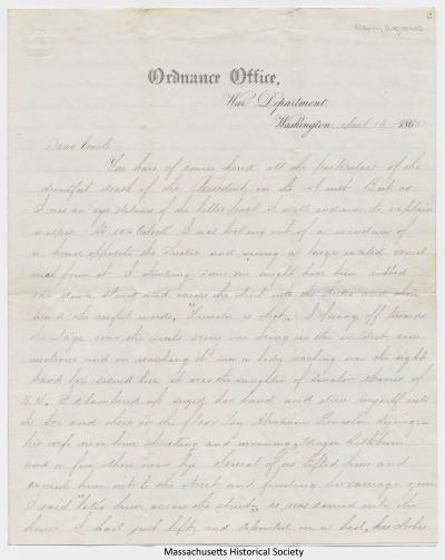Letter from Augustus Clark to S. M. Allen, 16 April 1865