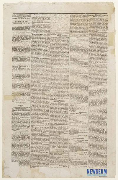 Tri-Weekly Constitutionalist, April 23, 1865