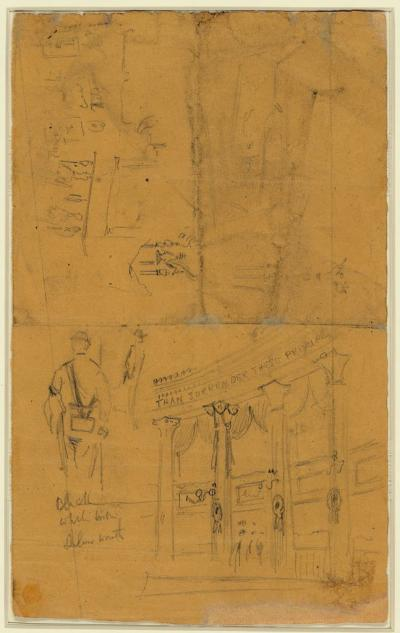 Sketches of details of bunting for Lincoln's funeral