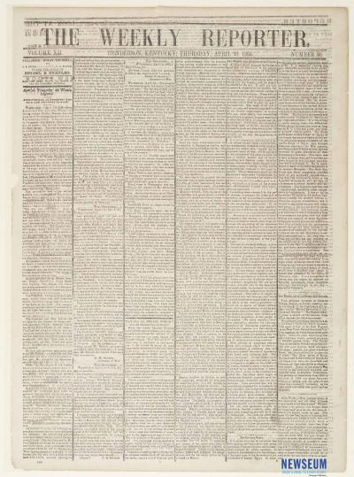The Weekly Reporter, April 20, 1865