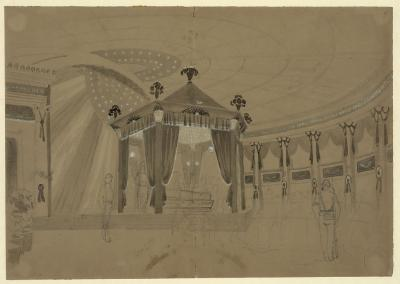 Lincoln's coffin on view at State House, Springfield, Illinois