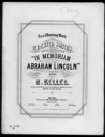 In memoriam Abraham Lincoln: National Chant