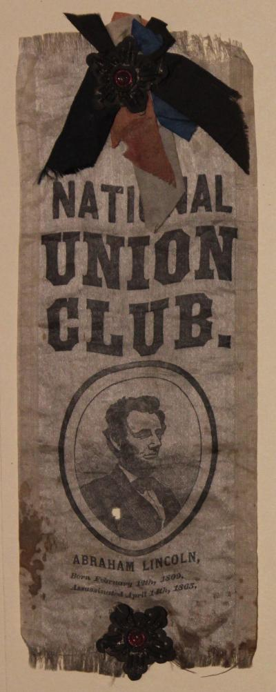 Laudenslager National Union Club Mourning Ribbon (Version 1 of 2)