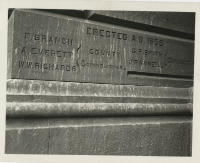 Cornerstone of Third County Courthouse, Cuyahoga County, Cleveland, Ohio