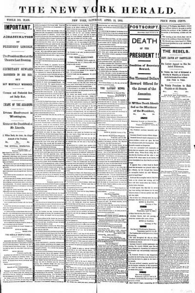 New York Herald 1865