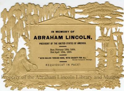 Memorial postcard