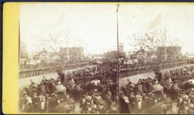 9th Union League Regiment waiting for the body of the President