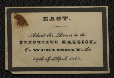 Admission Ticket to the White House