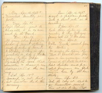 Eugene Carlos Bartholomew Diary Entry
