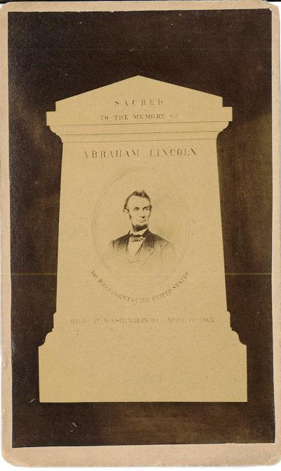 Card- Sacred to the Memory of Abraham Lincoln