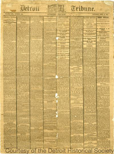 Detroit Tribune, Vol. XXIX, No. 234