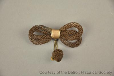 Hair Brooch worn by Matilda Bergen Beach at Lincoln's Burial