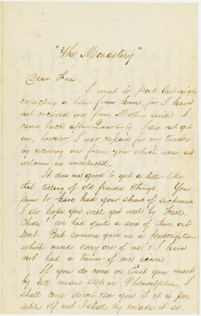 Letter of E. Rothesay Miller,