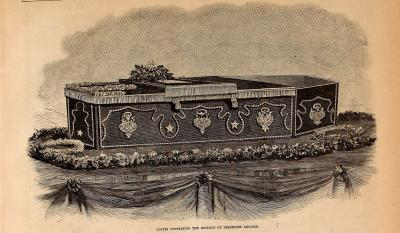 Abraham Lincoln's Coffin - Frank Leslie's Illustrated Newspaper Drawing