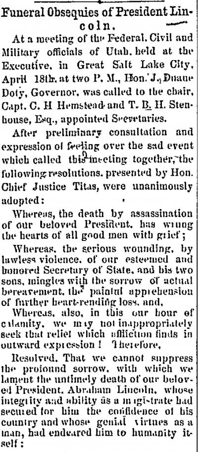 Funeral Obsequies of President Lincoln